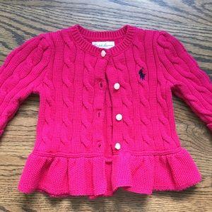 Ralph Lauren Cable Knit Sweater - 6 months
